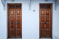 Wooden Doors of Greece Stock Photos