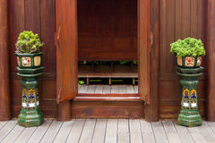 Wooden doors inside Royalty Free Stock Photography