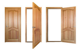Wooden doors isolated Royalty Free Stock Photo