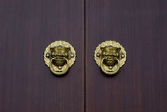 Wooden doors Kirin royalty free stock images