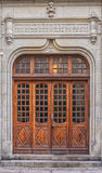 Wooden Doors in Malmo. Wooden doors from a city center building in Malmo, Sweden Royalty Free Stock Image