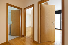 Wooden doors open Royalty Free Stock Photos