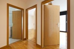 Wooden doors open Royalty Free Stock Photos