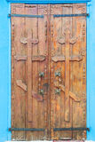 Wooden doors with orthodox crosses Stock Images