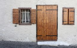 wooden doors and windows, vintage, rustic Stock Photos