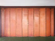 Wooden doors in the closed work. Wooden doors at work closed because of a long holiday royalty free stock photos