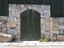 Wooden doorway Stock Photography