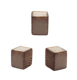 Wooden dot point isolated Stock Photos