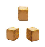 Wooden dot point isolated Stock Images
