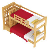 Wooden double bunk bed Royalty Free Stock Image