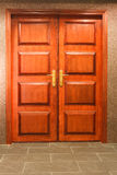 A wooden double door Royalty Free Stock Photo