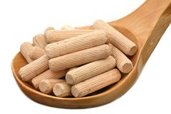 Wooden dowels Stock Photo