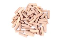 Wooden dowels Royalty Free Stock Image