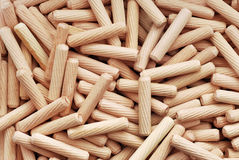 Wooden dowels Stock Photos