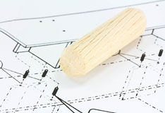 Wooden dowels. Stock Images