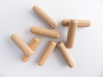 Wooden dowels Stock Images