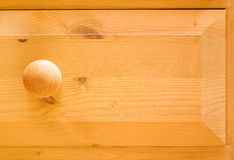 Wooden drawer. Detail of pine chest of drawers Royalty Free Stock Photos