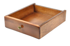 Wooden drawer royalty free stock image