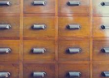 Wooden drawer handle Vintage furniture Royalty Free Stock Images
