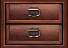 Wooden drawers Royalty Free Stock Photos