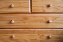 Wooden drawers Stock Photo