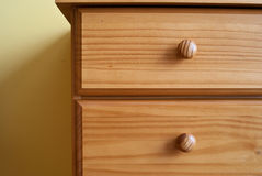 Wooden drawers Royalty Free Stock Images