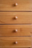 Wooden drawers Stock Images