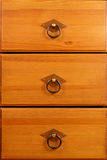 Wooden drawers Royalty Free Stock Photography