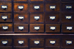Wooden drawers Stock Photos