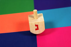 Wooden Dreidel Royalty Free Stock Photo