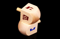 Wooden Dreidels Stock Photography