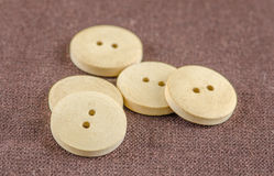 Wooden dress buttons Royalty Free Stock Photo