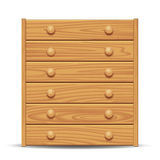 Wooden dresser Stock Photos