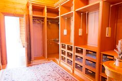 Wooden dressing room, Stock Photo