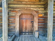 83-Wooden drzwi zdjęcie royalty free
