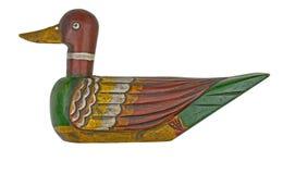 Wooden duck decoy Stock Images