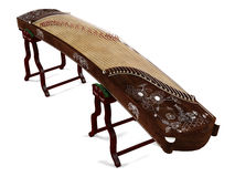 Wooden dulcimer traditional musical instrument. Stock Photos