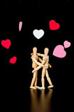 Wooden dummies   Stock Images