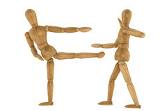 Wooden Dummies in Sparring Royalty Free Stock Photos