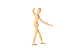 Wooden dummy in the balance Royalty Free Stock Photography