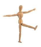 Wooden dummy in the balance Royalty Free Stock Images