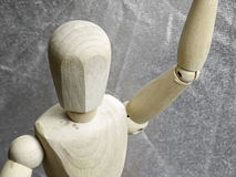 Wooden dummy body detail Stock Image