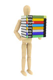 Wooden Dummy with books Royalty Free Stock Photography