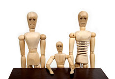 Wooden dummy family Royalty Free Stock Photos