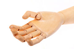 Wooden dummy hand Stock Images