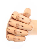 Wooden dummy hand Royalty Free Stock Photos