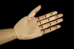 Wooden dummy hand Stock Photography