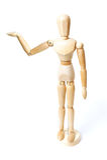 Wooden dummy mannequin Stock Photos
