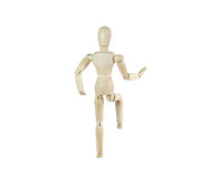 Wooden dummy. Wooden mannequin isolated on white stock photo