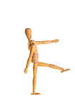 Wooden dummy in the military march Stock Photos